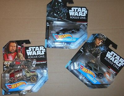 6x Star Wars HOT Wheels Character Cars Mattel Die Cast DieCast NEU & OVP 6 NEW