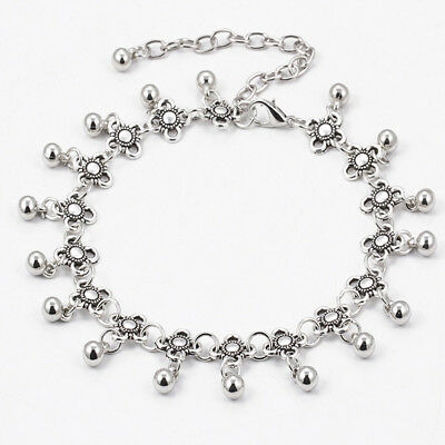 New Silver Boho Gypsy Beads Anklet Ankle Bracelet Foot Chain Jewelry gift