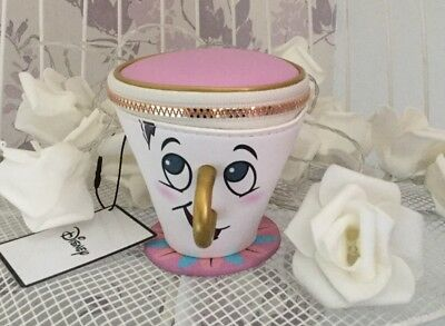 Primark Ladies DISNEY 3D TRINKLET CHIP COIN BEAUTY AND THE BEAST Cup Purse