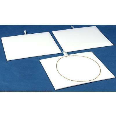 3 Jewelry Display Pad White Faux Leather Insert