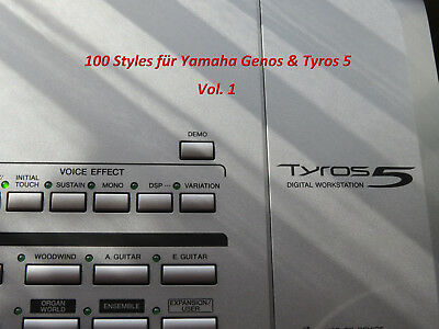 100 top styles f r yamaha tyros 5 genos vol 2 eur 30. Black Bedroom Furniture Sets. Home Design Ideas
