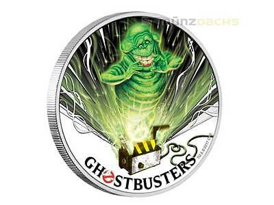 1$ Dollar Ghostbusters™ - Slimer Tuvalu 1 Once Pouces Pp Argent 2017