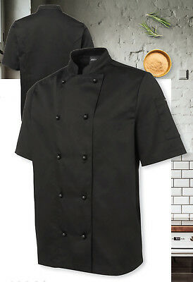 JB's Wear Traditional Style Short Sleeve Chef's Jacket W/ Interchangable buttons