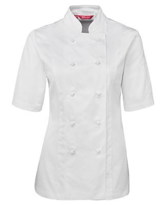 JB's Wear Ladies Cut Dill Fabric Classic Fit Short Sleeve Chef's Jacket Uniform