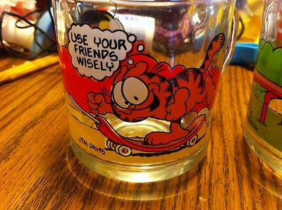 McDonald's Garfield Glasses Set Of 4