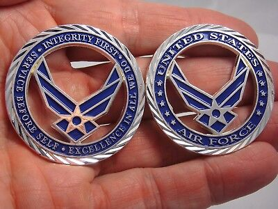 US Air Force Core Values Challenge Coin USAF Collectible Coin Airman Collectible