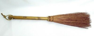 Vtg Red Small Hearth Broom Twig Stick Wood Handle Farmhouse Decor Fireplace Tool