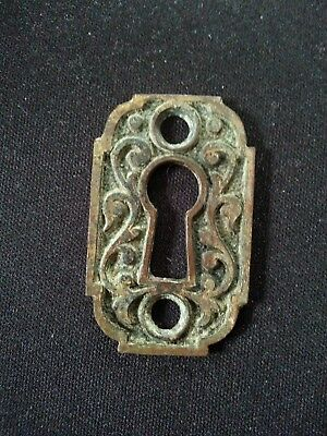 Antique Cast Bronze Victorian Eastlake Keyhole Escutcheons 1880's