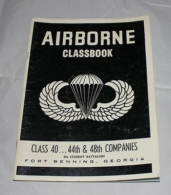 Us Army Airborne Class Book 1969 Fort Benning Yearbook Class 40
