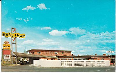 "Gallup NM  ""The Shalimar Inn Motel"" Route 66 Postcard New Mexico  * FREE US SHIP"