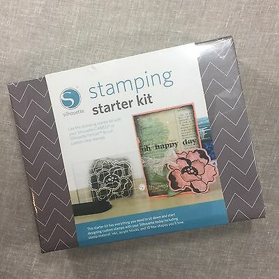 NIB Silhouette Stamping Starter Kit SD Cameo Portrait Machine Custom Stamp DIY