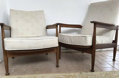 Pair of Vintage Retro Mid Century Guy Rogers Arm Chairs