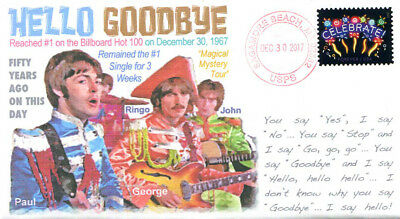 """COVERSCAPE computer designed 50th anniversary Beatles """"Hello Goodbye"""" cover"""