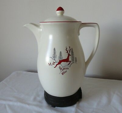 Large Crown Devon Stockholm Percolator Coffee Pot