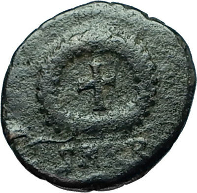THEODOSIUS II 425AD Christian CROSS Genuine Authentic Ancient Roman Coin i66319