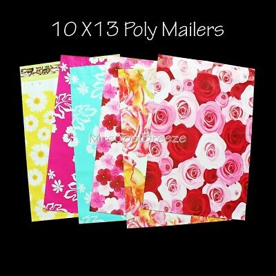 !Free Shipping! 25-400 10X13 All Floral Poly Mailer Shipping Envelope Bags
