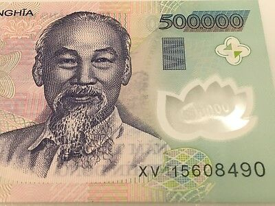 Genuine Uncirculated Half Million Vietnamese Dong (500,000) Currency Note