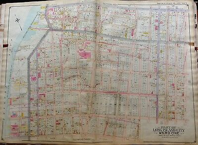 85  ATLAS MAP 1909 QUEENS NY ASTORIA STEINWAY AND SONS PIANO FACTORY P.S
