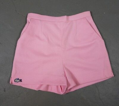 Vtg Pink Lacoste Golf Shorts sz. 8 70s Haymaker Izod Alligator High rise 80s