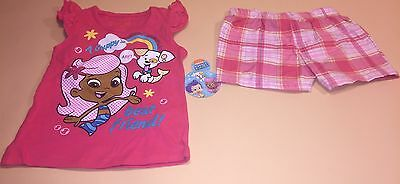 Bubble Guppies Toddler Girl Shirt & Shorts Outfit Set New 2T Molly Bubble Puppy