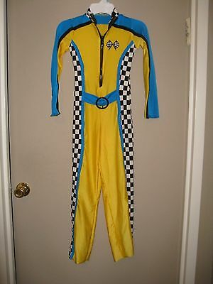 Art Stone Dance Costume Hip Hop Racing Jumpsuit Medium Child Yellow, Blue, Black
