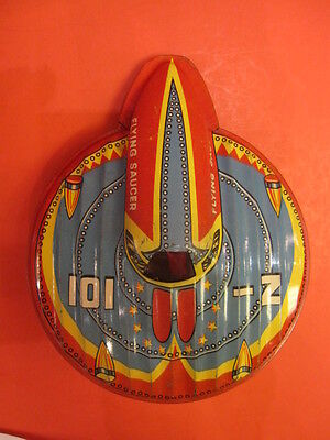 All Original Mettoy Flying Saucer Z-101 Friction England 1950 Space Toy