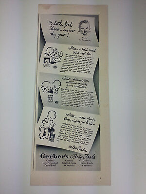 1940 Gerber Baby Food Magazine Print Ad Advertisement
