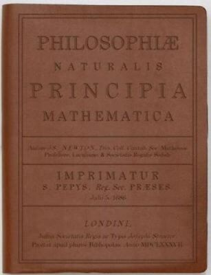 Principia Mathematica by Newton: Brown by Discovery Books LLC (Leather / fine...