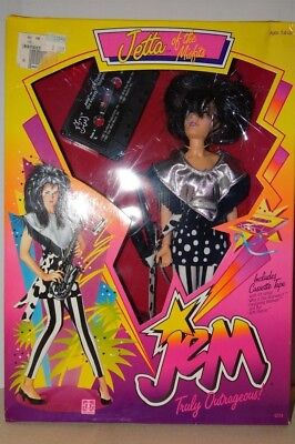 Jetta of the Misfits Doll Hasbro Jem Truly Outrageous 1986 w/ Cassette Tape