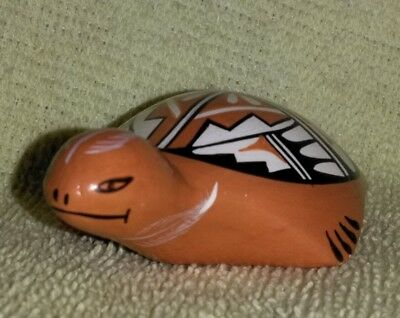 Vintage Miniature Jemez PotteryTurtle by Jerry D.