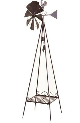 Large Weather Vane w/Windmill & bell 47x150cm