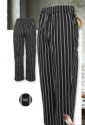 JB's Wear Comfortable Classic Style Stripe Chef's Pant with Side & Back Pockets