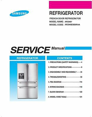 samsung rf23hsesbsr refrigerator service manual repair guide