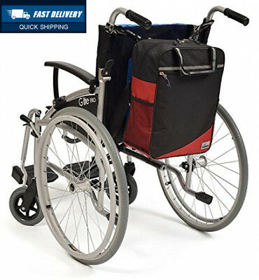 Simplantex Wheelyscoot Bag - Universal Wheelchair/Mobility Scooter Burgundy