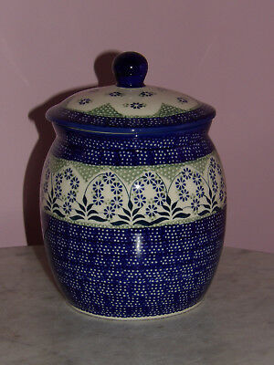 Genuine UNIKAT Polish Pottery 3 L Canister/Cookie Jar!  Cyndia Pattern!