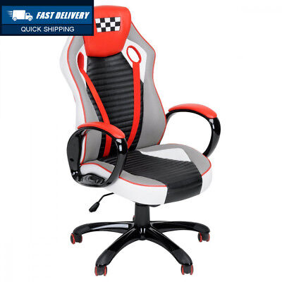 Fanilife Racing Chair Gaming Style High Back PU Leather Swivel Office...