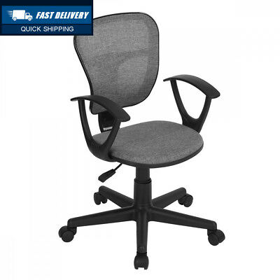 Home Office Fabric Task Computer Chair Mid Back Swivel Adjustable Height...