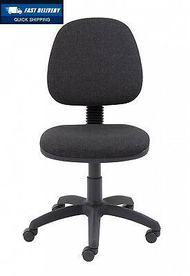 Office Hippo Medium Back Computer Chair, Fabric - Charcoal Grey