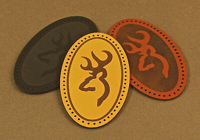 Leather sew on Browning patch