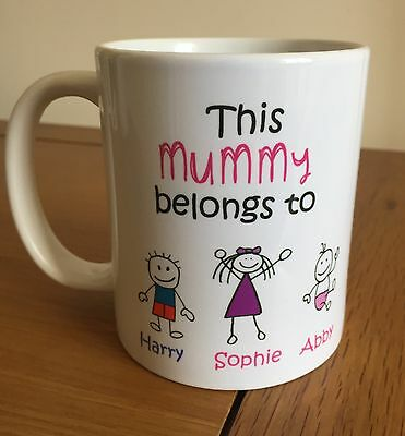 Mummy/Mum/ Grandma/Nanny/Nana/Nan/Auntie,Godmother Personalised Mug Birthday