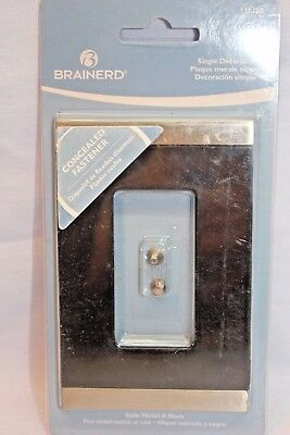 Brainerd Single Decorator 135757 Satin Nickel & Black GFI or Rocker Switch Plate