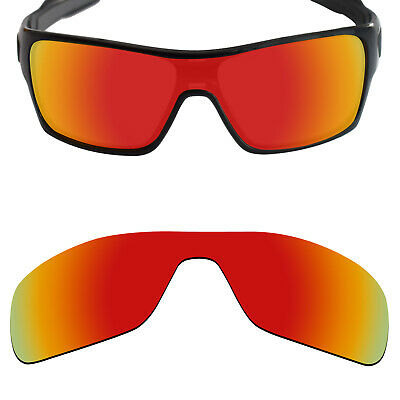 c05977f911 MRY POLARIZED Replacement Lenses for-Oakley Turbine Rotor Sunglasses Fire  Red