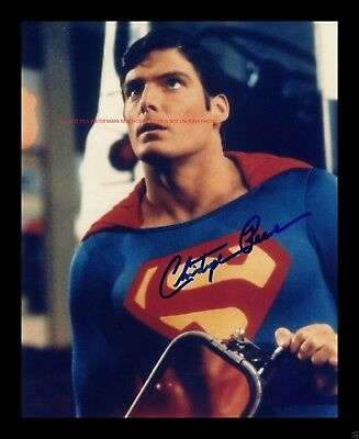Christopher Reeve SUPER Man Autographed 8x10 Photo (RP)