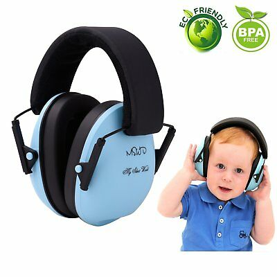 Ear Defenders for Kids Toddlers Children Babies Hearing Protection Earmuffs BLUE