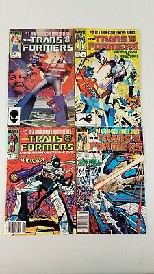 Transformers #1-4 Limited Series Marvel 1984, Spiderman