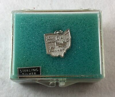 Vintage Sterling Silver State of Ohio Charm with Box