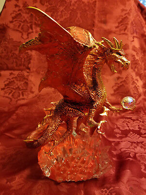 """Franklin Mint Red Dragon """"The Guardian of Fire"""" by Michael Whelan"""