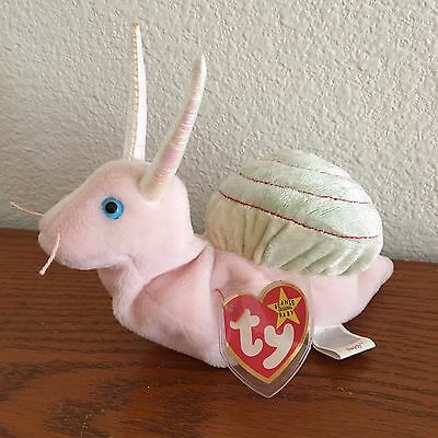 TY Beanie Baby SWIRLY the Snail Plush w/ Tag ERRORS NWT 1999 VERY RARE