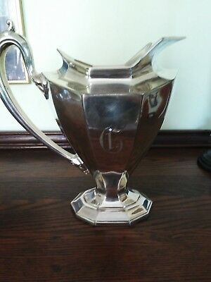 Monogrammed - Reed and Barton Silverplated Sierra Water Pitcher #3690 7 Half Pt