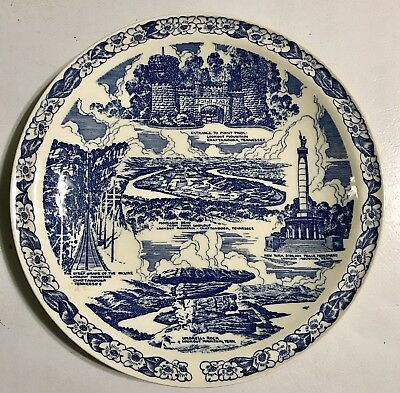 """Vernon Kilns Lively's Lookout Museum Tennessee Plate, 10 1/4"""" Diameter"""